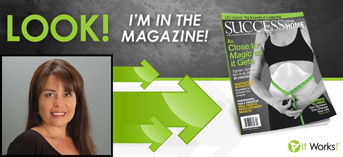 It Works distributor Barbara Boser in Success From Home Magazine