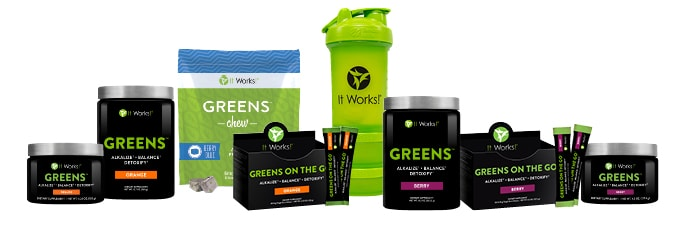 It Works Greens Products